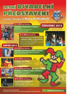 Plakát Divadelní léto 2013