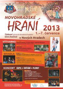 Plakát  Novohradské Hraní 2013