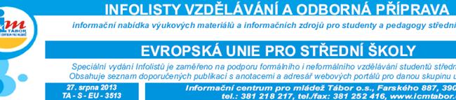Infolisty  - Vzdělávání a odborná příprava