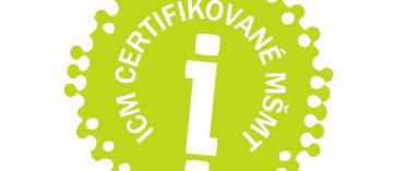 Certifikát kvality ICM České Budějovice