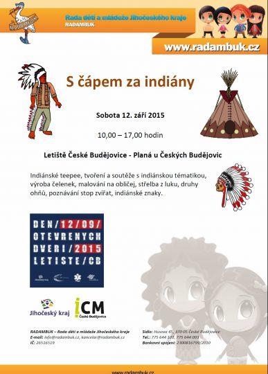 Plakát S čápem za indiány 12.9.2015