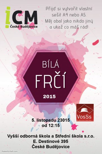 bílá frčí plakát VosŠs 5.11.2015