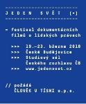 Mezinárodní filmový festival JEDEN SVĚT  2018