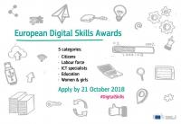 Přihlaste svůj projekt do Digital Skills Awards 2018