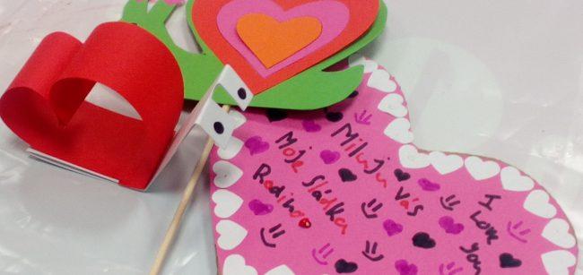 Výtvarné valentýnské tvoření