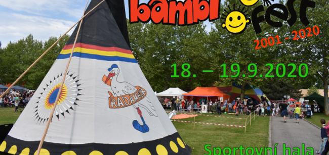 Pozor změna termínu BAMBIFEST 18.-19.9..2020 !!!!!!