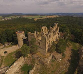Zřícenina hradu Helfenburk u Bavorova