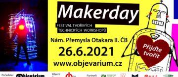 Objevarium připravuje na 26.6. od 10:00-18:00 festival Makerday- výzva pro tvůrce, hledají se dobrovolníci